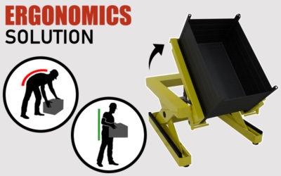 ERGONOMIC SOLUTIONS: Workbench and tiltable lift